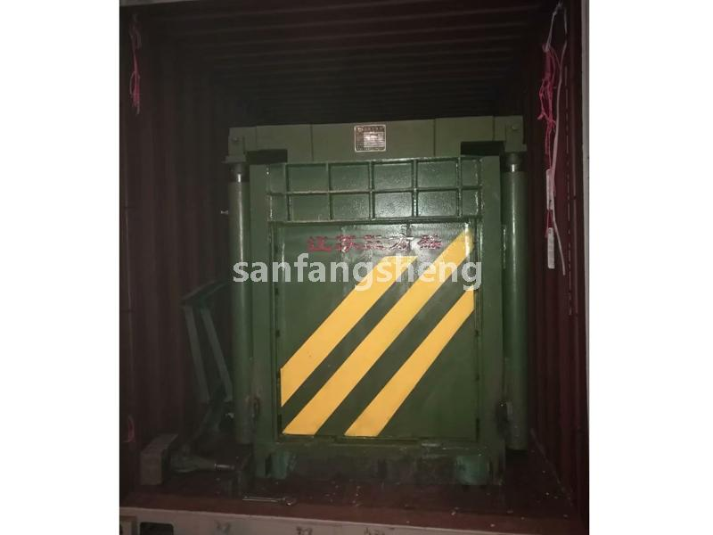 Waste paper baler export packing